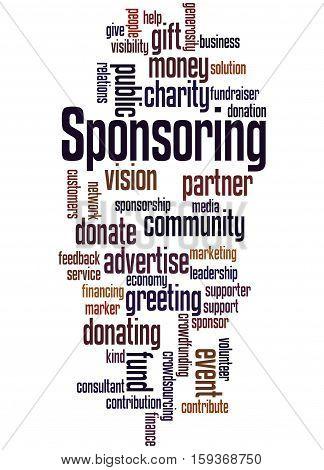 Sponsoring, Word Cloud Concept