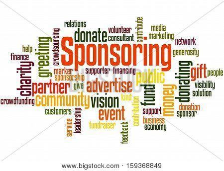 Sponsoring, Word Cloud Concept 2