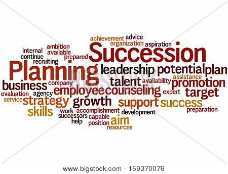 Succession Planning, Word Cloud Concept 3