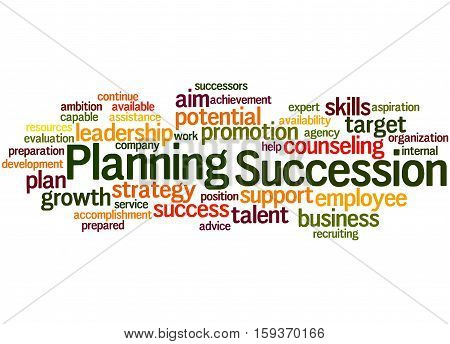 Succession Planning, Word Cloud Concept 4