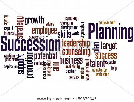 Succession Planning, Word Cloud Concept 7