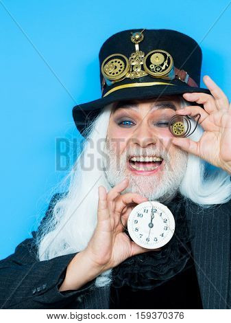 Smiling Bearded Man Or Watchmaker