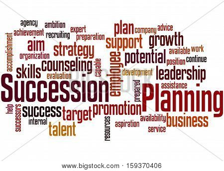 Succession Planning, Word Cloud Concept 8
