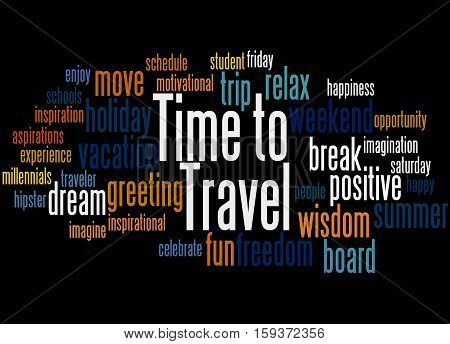 Time To Travel, Word Cloud Concept 2