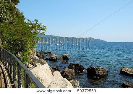 Sea view in town Herceg Novi Kotor Bay Montenegro