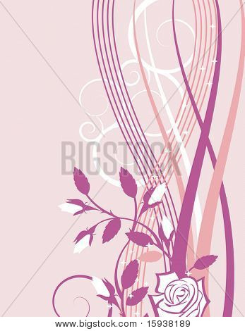 Exquisite wedding design with roses and rose buds. Check my portfolio for more of this series as well as thousands of other great vector items.