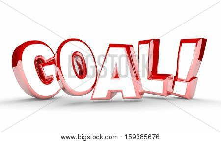 Goal Word Mission Accomplished Achievement 3d Illustration