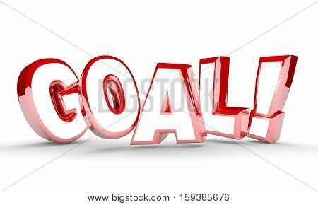 Goal Word Mission Accomplished Achievement 3d Illustration