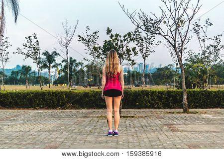 Girl At Villa-lobos Park In San Paulo (sao Paulo), Brazil (brasil)