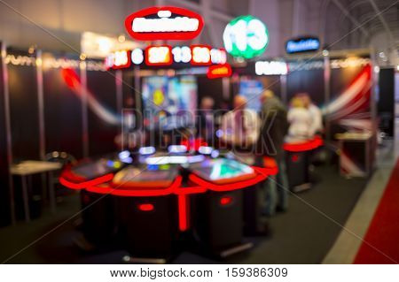 Blurry Slots Machines At A Casino