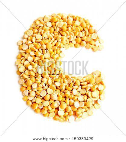 The peas Initials letter C.