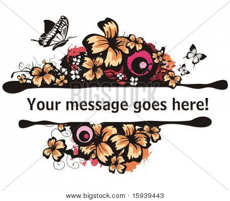 Floral vector borders with place for your text.