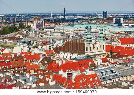 Aerial View Of City Center In Vienna
