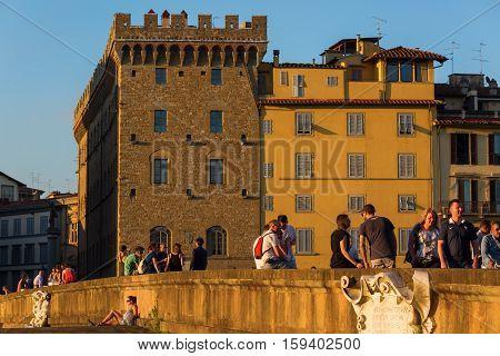 Ponte Santa Trinita In Florence, Italy