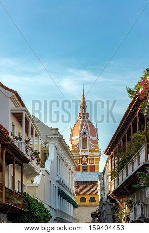 Vertical Cartagena Cathedral