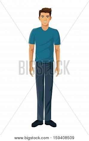 young man gamer virtual reality vector illustration eps 10