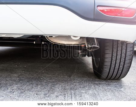 Exhaust pipe of a car, concern about environment problem