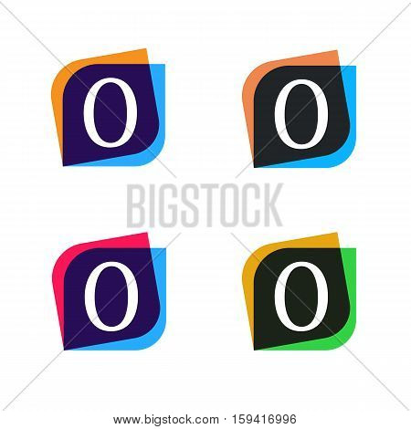 Abstract shape element company logo sign icon vector design. O letter logotype