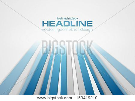 Abstract blue grey corporate tech background. Vector design illustration