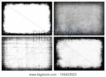 Collection Grunge Frame - Creative Background With Space For Your Design, Set 4.