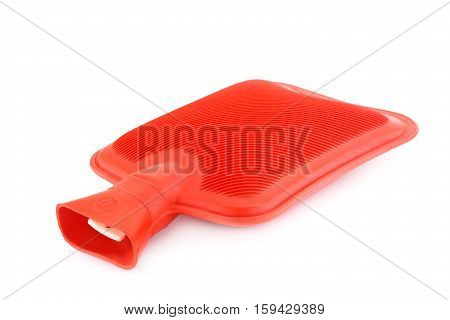 Red rubber hotty isolated on white background.