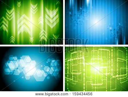 Bright tech abstract corporate backgrounds