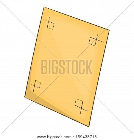 Test printed sheet icon. Cartoon illustration of test printed sheet vector icon for web design