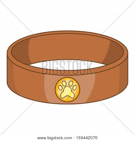 Pet collar icon. Cartoon illustration of pet collar vector icon for web