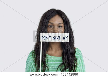 Don't Give Up Optimism Motivate Word Concept