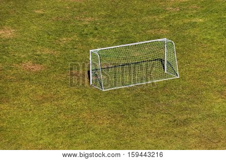 Grass football playground