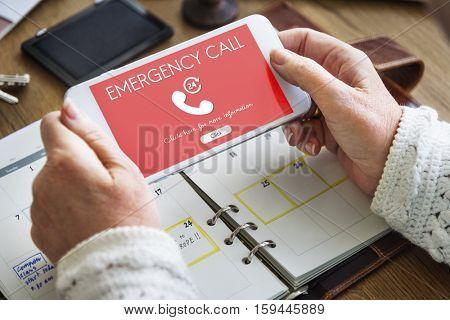 Emergency Call Urgent Accidental Hotline Paramedic Concept