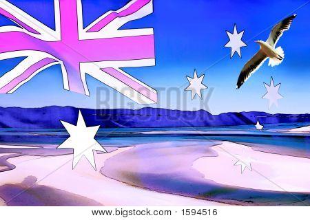 Australian Flag Abstract