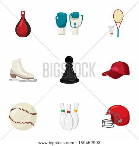 Sport icons set. Cartoon illustration of 9 sport vector icons for web