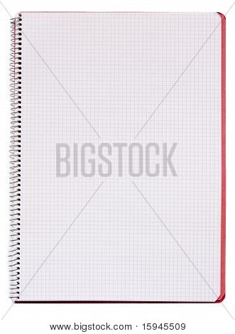 Isolated Blank Notebook