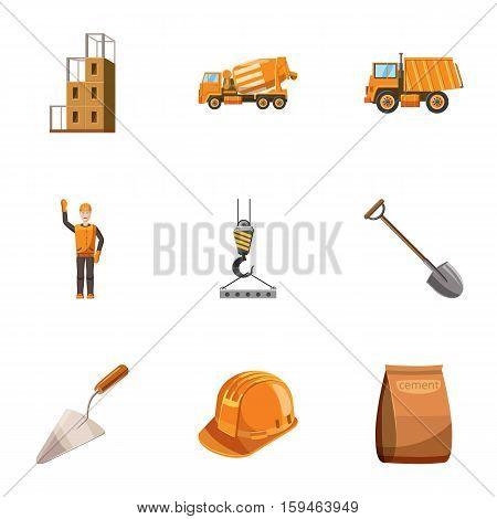 Repair icons set. Cartoon illustration of 9 repair vector icons for web