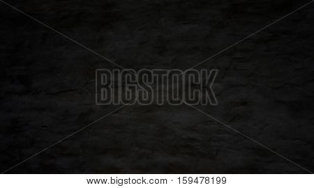 Old uneven dirty grunge background - Black Color