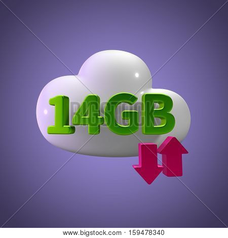 3d rendering cloud download upload  14 gb capacity