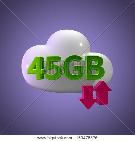 3d rendering cloud download upload  45 gb capacity