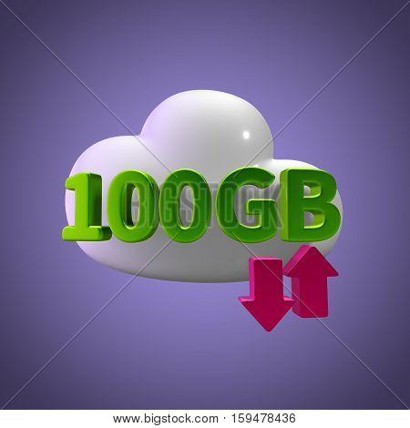 3d rendering cloud download upload  100 gb capacity
