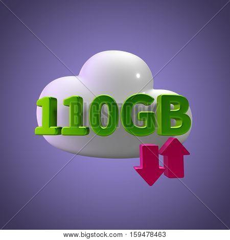 3d rendering cloud download upload 110  gb capacity