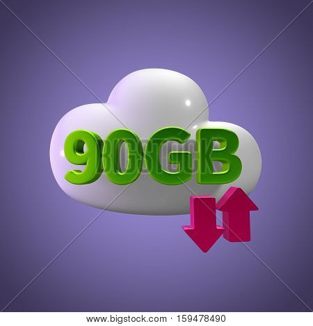 3d rendering cloud download upload  90 gb capacity