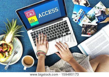 Access Connection Internet Technology Concept