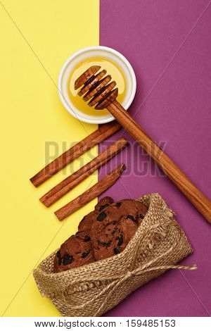 Sweets On Colorful Background