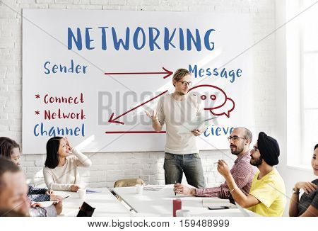 Communication Graph Networking Connection Internet Concept
