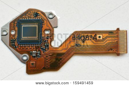 Microelectronics. Details and units of the digital camera.