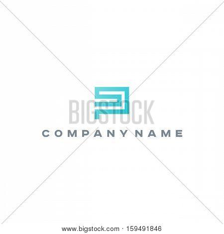 Ps Sp monogram logo template. Letter monogram.