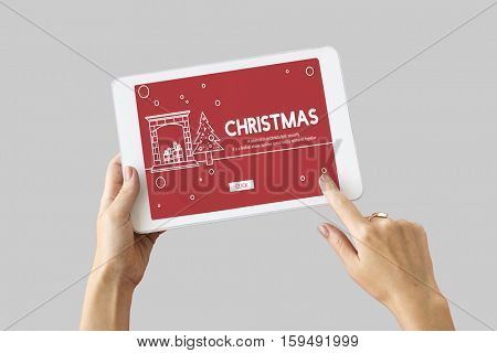 Christmas Celebration Enjoyment Graphic Concept