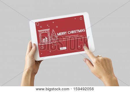 Merry Christmas Santa Clause Festive Holiday Concept