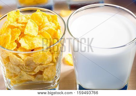 Cornflakes And Milk For Breakfast