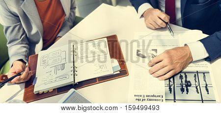 Business People Discussion Planning Growth Data Information Strategy Concept